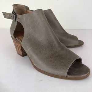 Lucky Brand Barimo Leather Booties Buckle In 8.5